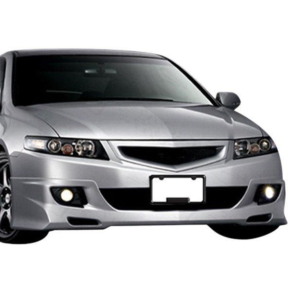 VIS Racing Acura TSX Techno R Style Fiberglass Bumper Lips - 2006 acura tsx front bumper