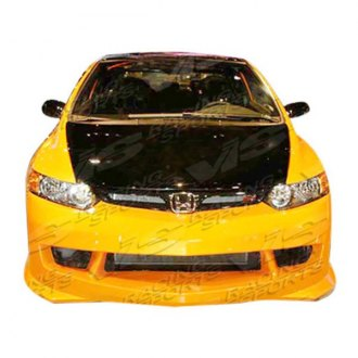 VIS Racing® - Techno R 2 Style Fiberglass Bumpers (Unpainted)