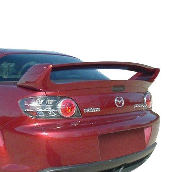vis racing® 04mzrx82draz-003 - razor style fiberglass rear spoiler