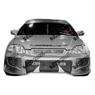 VIS Racing® - Invader 4 Style Fiberglass Front Bumper (Unpainted)
