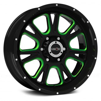 VISION OFF-ROAD® - FURY Gloss Black with Green Accents