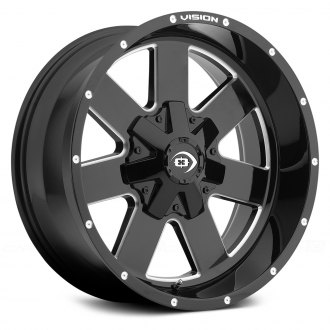 VISION OFF-ROAD® - ARC Gloss Black with Milled Spokes