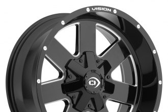 "VISION OFF-ROAD® - ARC Gloss Black with Milled Spokes (20"" x 9"", +12 Offset, 6x139.7 Bolt Pattern, 87.1mm Hub)"