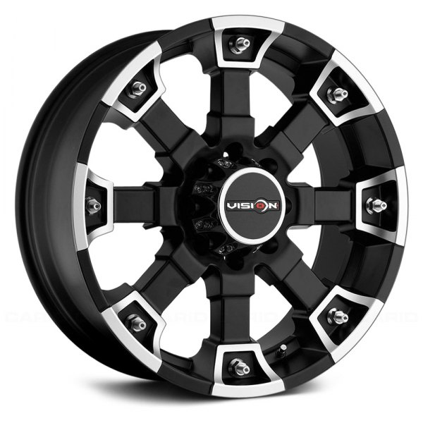 VISION OFF-ROAD® - 392 BRUTAL Matte Black with Machined Face