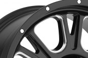 VISION OFF-ROAD® - FURY Gloss Black with Milled Spokes Close-Up