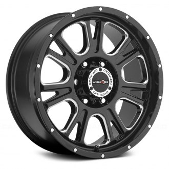 VISION OFF-ROAD® - 399 FURY Gloss Black with Milled Spokes