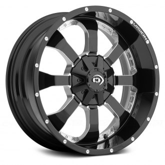 VISION OFF-ROAD® - LOCKER Gloss Black with Milled Spokes
