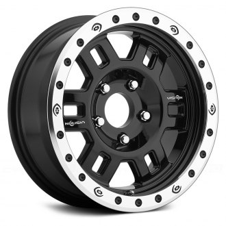 VISION OFF-ROAD® - 398 MANX COMPETITION Gloss Black with Machined Flange