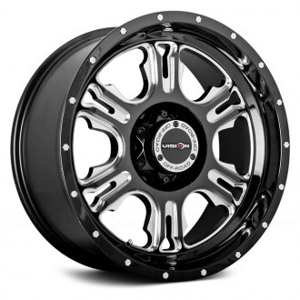 VISION OFF-ROAD® - RAGE Gloss Black with Milled Spokes