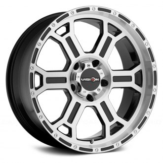 VISION OFF-ROAD® - 372 RAPTOR Gloss Black with Machined Face