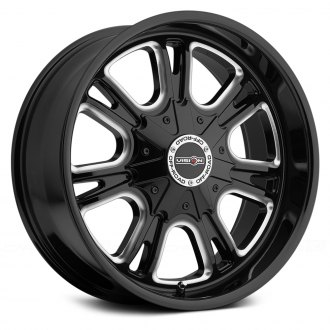 VISION OFF-ROAD® - STORM Gloss Black with Milled Spokes