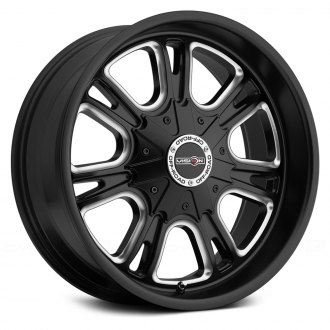 VISION OFF-ROAD® - STORM Matte Black with Milled Spokes