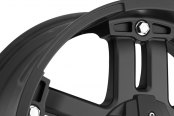 VISION OFF-ROAD® - WARLORD Matte Black with Chrome Bolts - Covered Lugs Close-Up