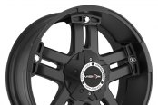 VISION OFF-ROAD® - WARLORD Matte Black with Chrome Bolts - Covered Lugs