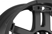 VISION OFF-ROAD® - WARLORD Matte Black with Chrome Bolts - Exposed Lugs Close-Up