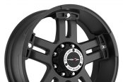 VISION OFF-ROAD® - WARLORD Matte Black with Chrome Bolts - Exposed Lugs