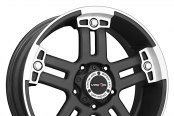 VISION OFF-ROAD® - WARLORD Matte Black with Machined Face - Exposed Lugs