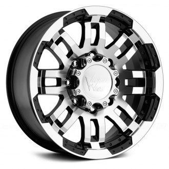 VISION OFF-ROAD® - WARRIOR Gloss Black with Machined Face and Lip