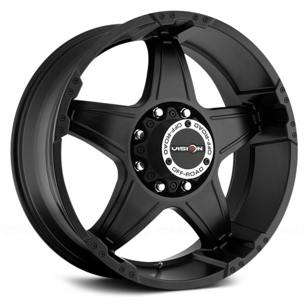 VISION OFF-ROAD® - WIZARD Matte Black - Exposed Lugs