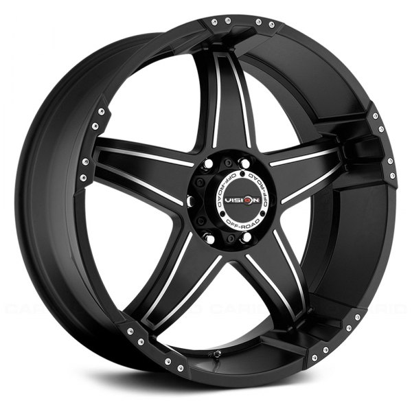 VISION OFF-ROAD® - WIZARD Matte Black with Machined Face - Exposed Lugs