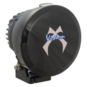 Vision X® - Round Black Polycarbonate Light Cover with White Logo for Cannon Series