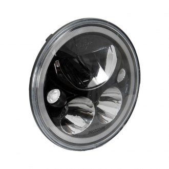 "Vision X® - 7"" Round Black/Chrome Vortex Halo Projector LED Headlight"