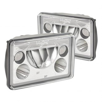 "Vision X® - Vortex 4x6"" Rectangular Chrome Halo LED Headlights"