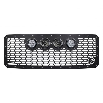 Vision X® - 1-Pc VX Series Cannon Gen 2 Style Black CNC Machined Main Grille with Lights
