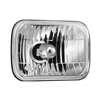 "Vision X® - 7x6"" Rectangular Chrome Crystal Headlights"
