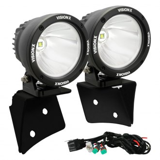 "Vision X® - 4.5"" Cannon Driving Light Set with A-Pillar Mount Bracket"