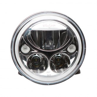 "Vision X® - 7"" Round Chrome Vortex Halo Projector LED Headlight"