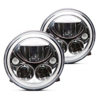"Vision X® - 7"" Round Chrome Full LED Halo Projector Headlights"