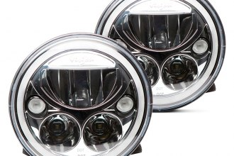 "Vision X® 9891224 - 7"" Round Chrome Full LED Halo Projector Headlights"