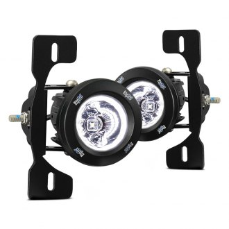 Vision X® - LED Fog Light Kit with Optimus Series Halo Square Driving Lights