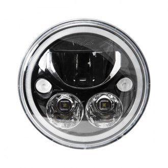 "Vision X® - Vortex 7"" Round Black Chrome LED Driving Light with High/Low Halo, Single Light"