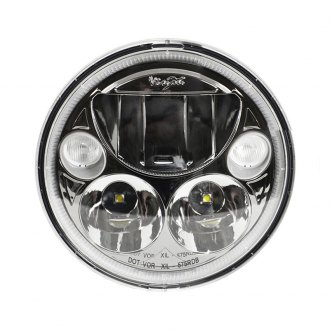 "Vision X® - Vortex 5 3/4"" Round Black Chrome LED Driving Light with High/Low Halo, Single Light"
