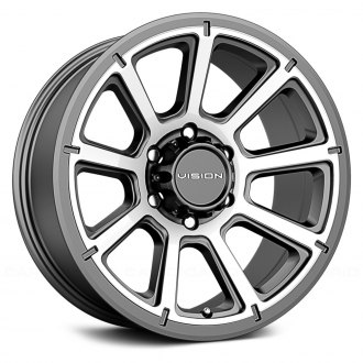VISION OFF-ROAD® - 353 TURBINE Gunmetal with Machined Face