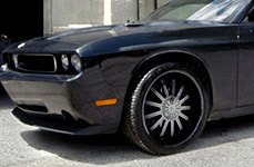 VISION® - XTACY Black with Machined Face on Dodge Challenger