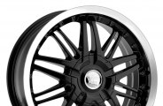 "VISION® - AVENGER Gloss Black with Machined Lip (16"" x 7"", ++38 Offset, 5x114.3 Bolt Pattern, 74.1mm Hub)"