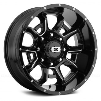 VISION OFF-ROAD® - 415 BOMB Gloss Black with Milled Spokes