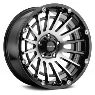 VISION OFF-ROAD® - 417 CREEP Gloss Black with Machined Face