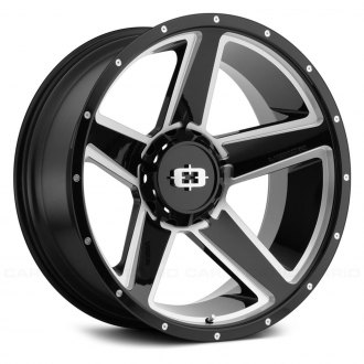 VISION OFF-ROAD® - EMPIRE Gloss Black with Milled Spokes