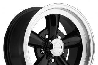 "VISION® - LEGEND 5-141 Gloss Black with Machined Lip (17"" x 8"", 0 Offset, 5x127 Bolt Pattern, 83mm Hub)"
