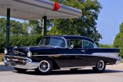 VISION® - LEGEND 5-141 Gunmetal with Machined Lip on Chevy Bel Air