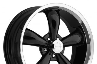 "VISION® - LEGEND 5-142 Gloss Black with Machined Lip (18"" x 8.5"", +10 Offset, 5x114.3 Bolt Pattern, 83mm Hub)"