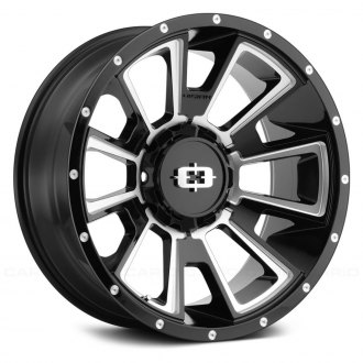 VISION OFF-ROAD® - 391 REBEL Gloss Black with Milled Accents