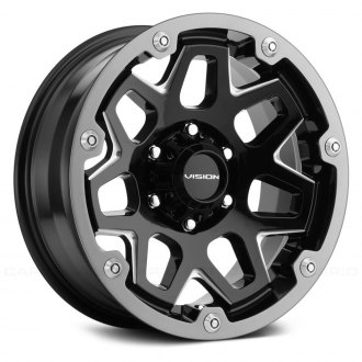 VISION OFF-ROAD® - 416 SE7EN Gloss Black with Milled Accents and Grey Ring