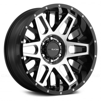 VISION OFF-ROAD® - 388 SHADOW Gloss Black with Machined Face