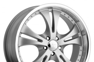"VISION® - SHOCKWAVE Silver with Machined Lip (17"" x 7"", +42 Offset, 5x114.3 Bolt Pattern, 74.1mm Hub)"