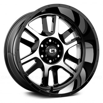 VISION OFF-ROAD® - 419 SPLIT Gloss Black with Machined Face